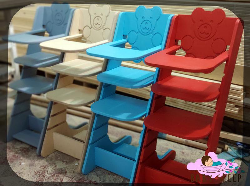 """כיסא פעילות לילדים מעץ """"צ'ומפי"""" - כיסא אוכל לתינוק"""