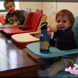 """כיסא פעילות לילדים מעץ """"צ'ומפי"""" - כיסא אוכל לילדים"""