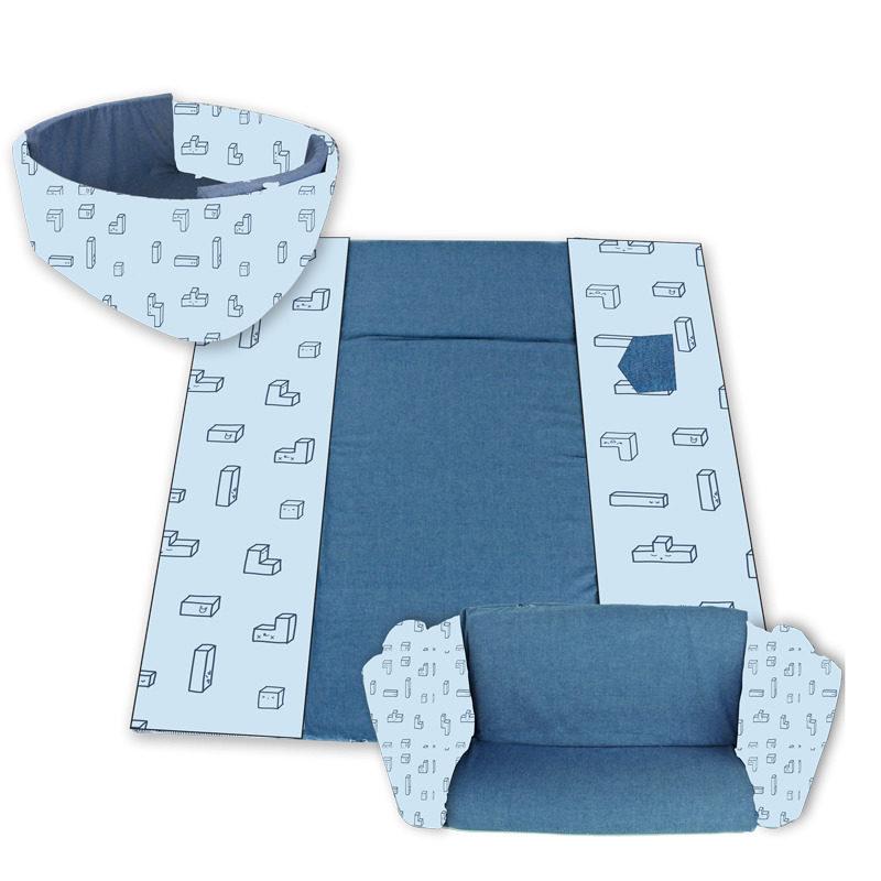 מזרן פעילות לתינוק מודולרי כחול