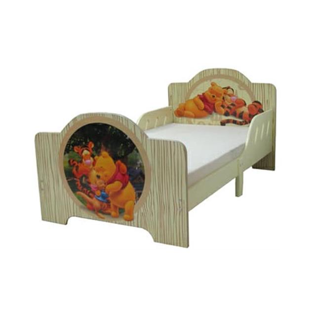 מיטת מעבר מעץ פו הדב צבע חום