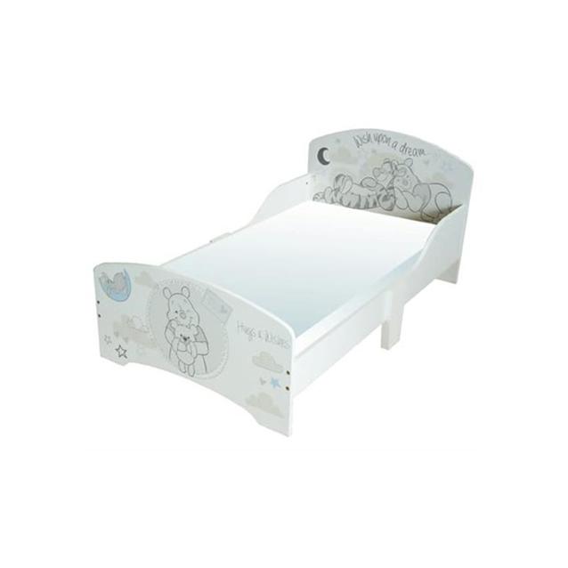 מיטת מעבר מעץ פו הדב צבע לבן
