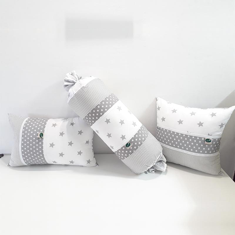 כריות נוי לחדר תינוק בצבע אפור בהיר