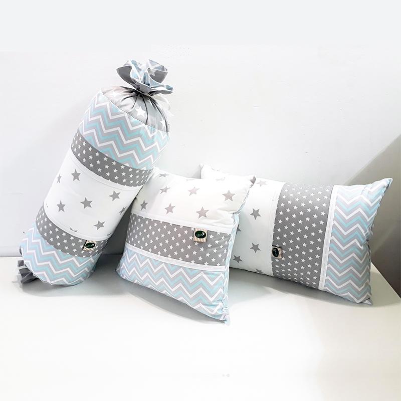 כריות נוי לחדר תינוק בצבע תכלת