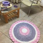 שטיח טריקו סגול ורוד