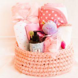 מארז מתנת לידה פרימיום לתינוקת ורוד