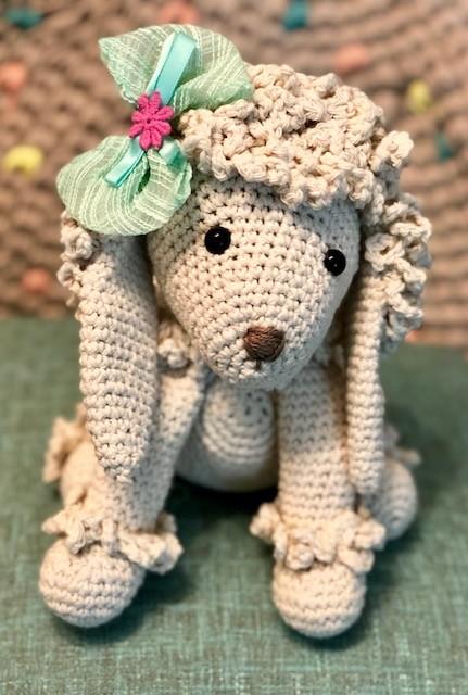 בובת כלב פודל סרוג - באפי