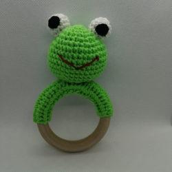 רעשן צפרדע מחוטי כותנה