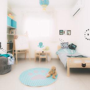 """סט עיצוב חדר ילדים """"חתול פורח"""""""