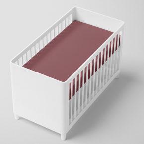 סדין בורדו למיטת תינוק