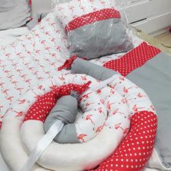 סט פלמינגו - מתנות קטנות לבן אדום