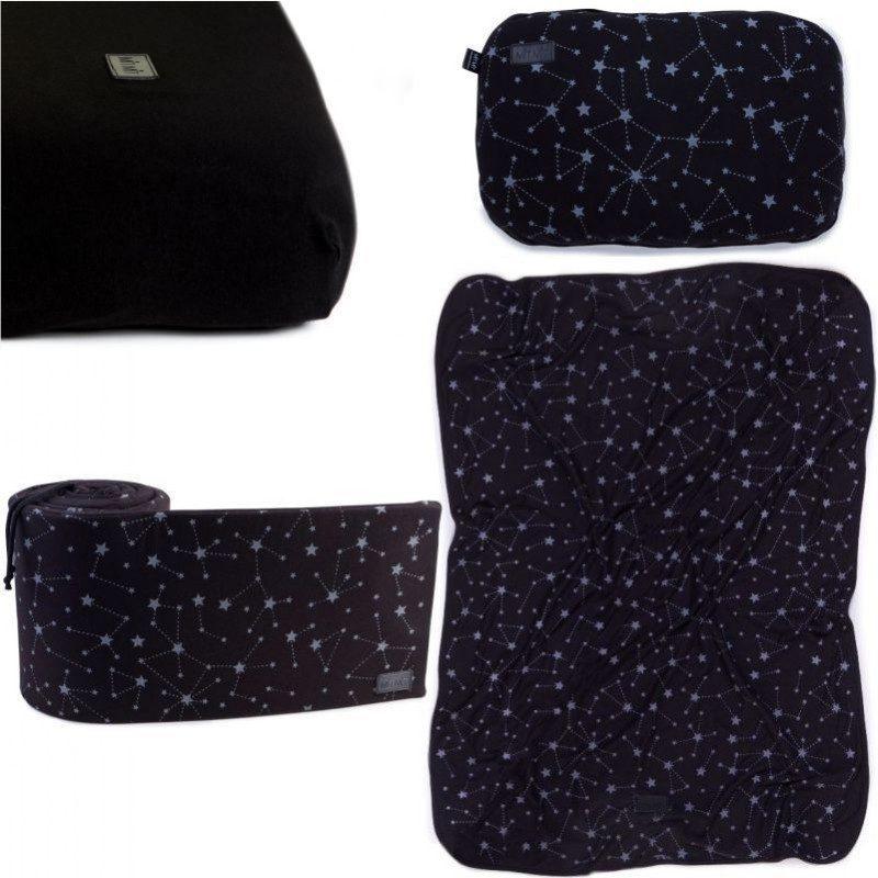סט קייצי לעריסה או למיטת תינוק MitMit שחור