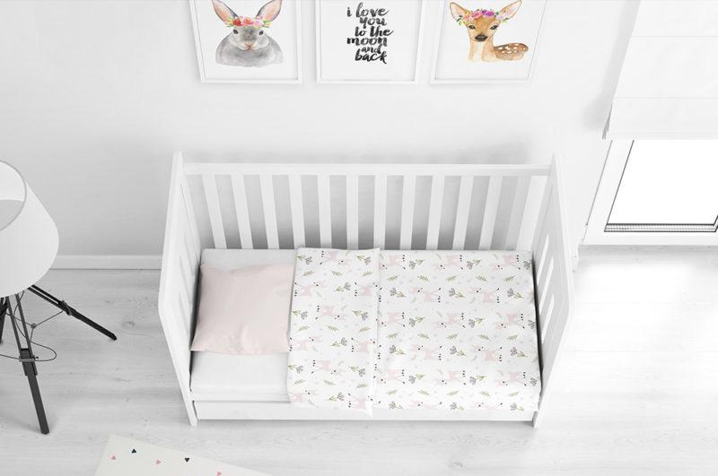 סט מצעים לתינוק - במבי