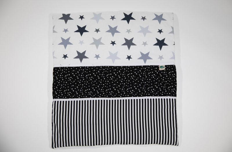 שמיכה למיטת תינוק - שחור לבן