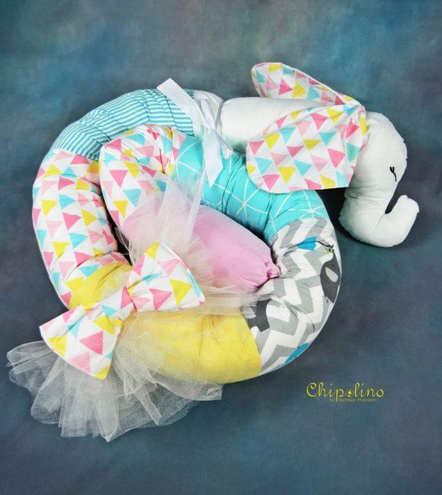 נחשוש חיות לתינוק פיל טורקיז צבעוני