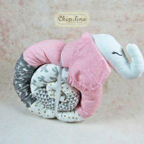נחשוש חיות לתינוק פיל ורוד