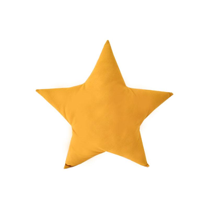 כרית נוי בצורת כוכב חרדל