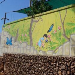 ציור קיר לפעוטון לגן ילדים