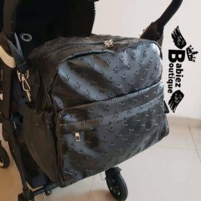 """תיק החתלה מעוצב """"בייביז בוטיק"""" שחור"""