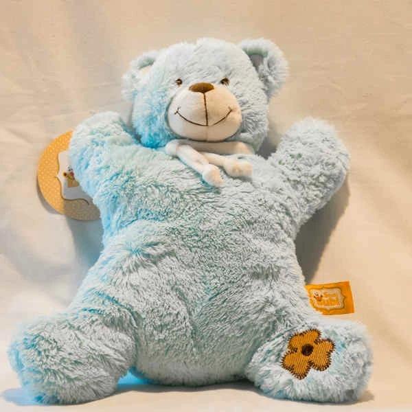 מתנה ליולדת ולתינוק - חיוך שובב דובי כחול