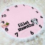 """שמיכת חודשים """"Pink Mini"""""""